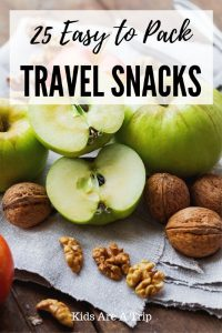 If you're hitting the road and look for something that travel well, we have you covered with these easy to pack travel snacks. - Kids Are A Trip