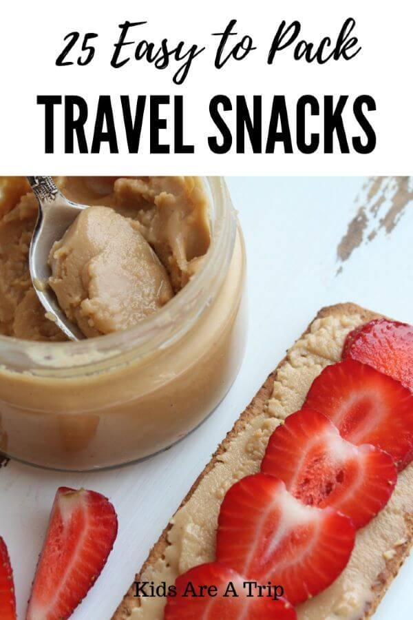 Looking for easy to pack travel snacks? We have you covered-Kids Are A Trip #roadtrip #snacks #familytravel