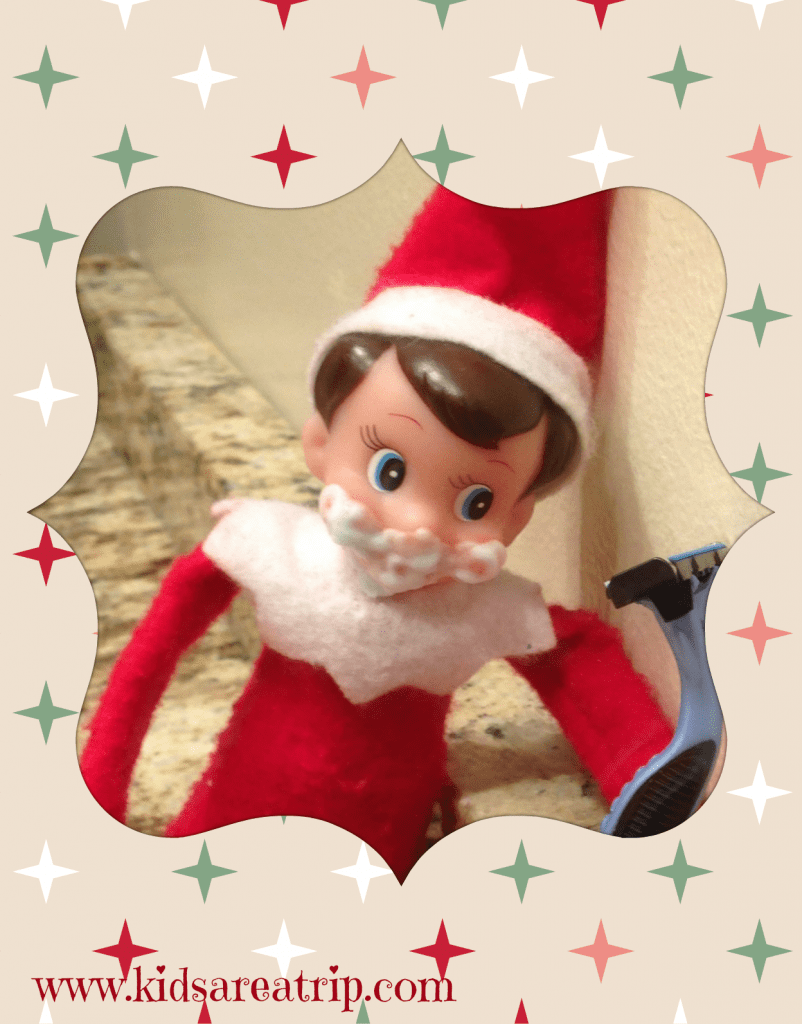 elf on the shelf road trip ideas shaving-kids are a trip
