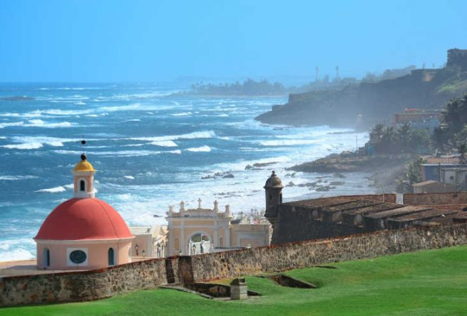View of Old San Juan fort and cemetery-Kids Are A Trip