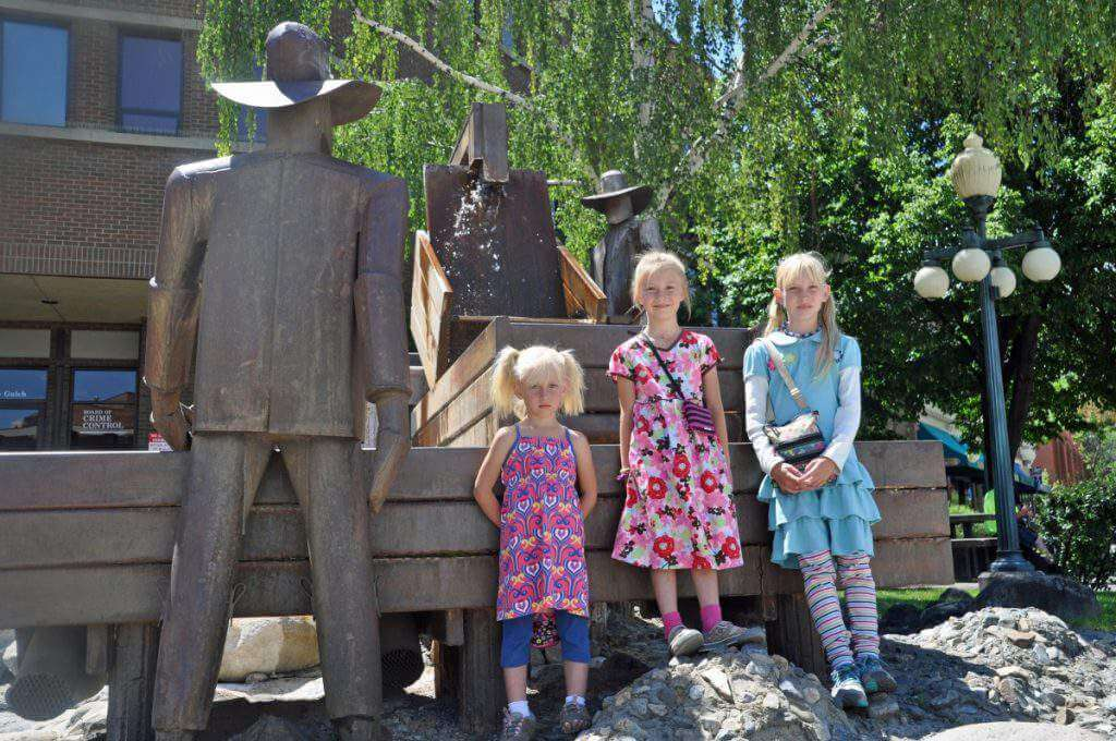 Visiting Helena with Kids Mining Statue in Helena-Kids Are A Trip