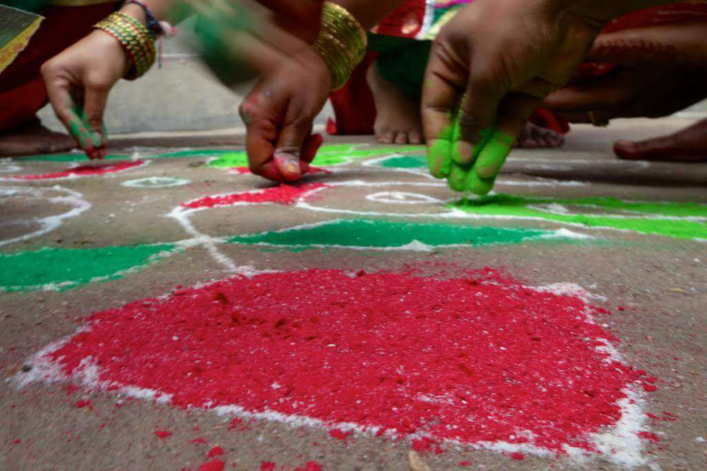 Rangoli/Muluggu Diwali