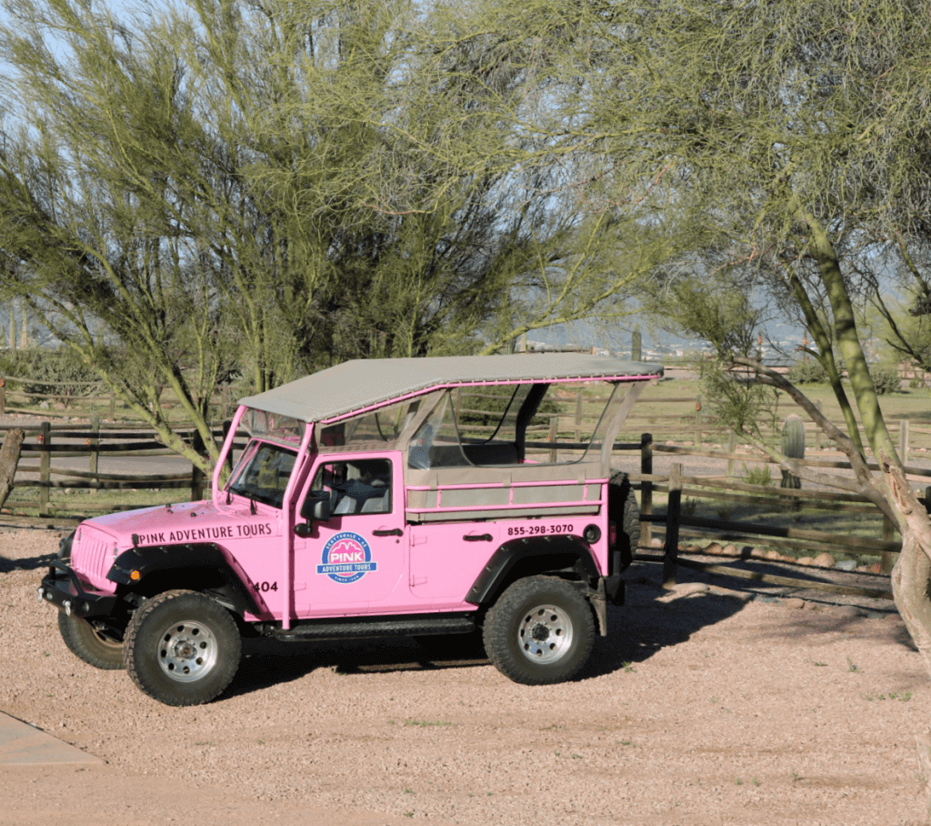 Family Friendly Things to Do on a Weekend in Phoenix Pink Jeep-Kids Are A Trip