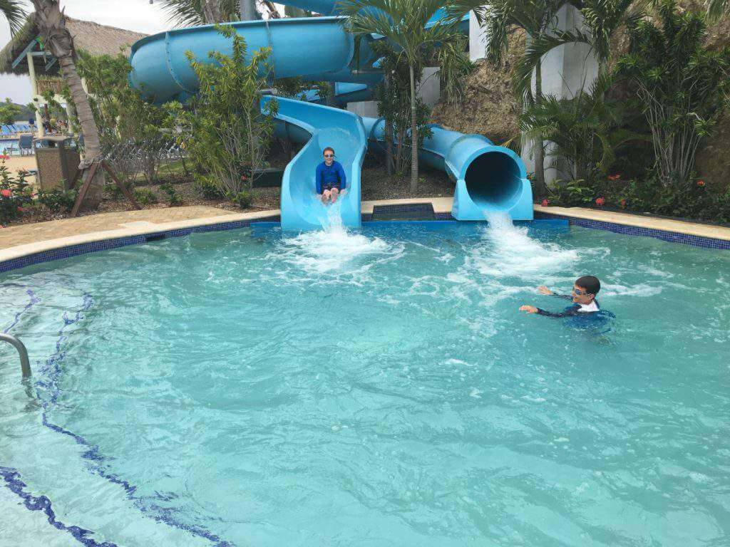 The Water Slides at Amber Cove Fathom Cruise-Kids Are A Trip