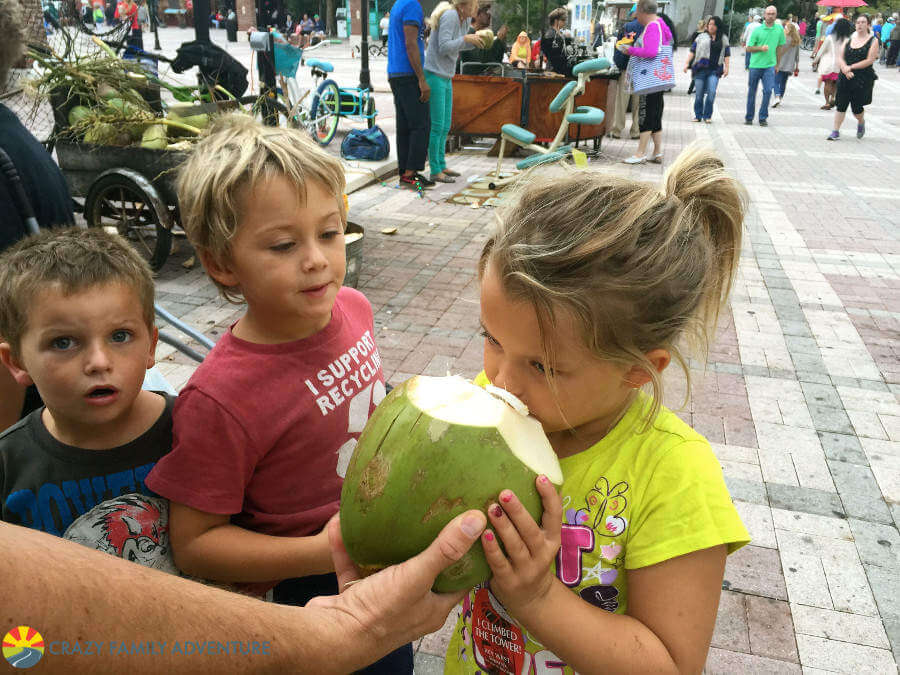 Family Friendly Things to Do in Key West Mallory Square-Kids Are A Trip