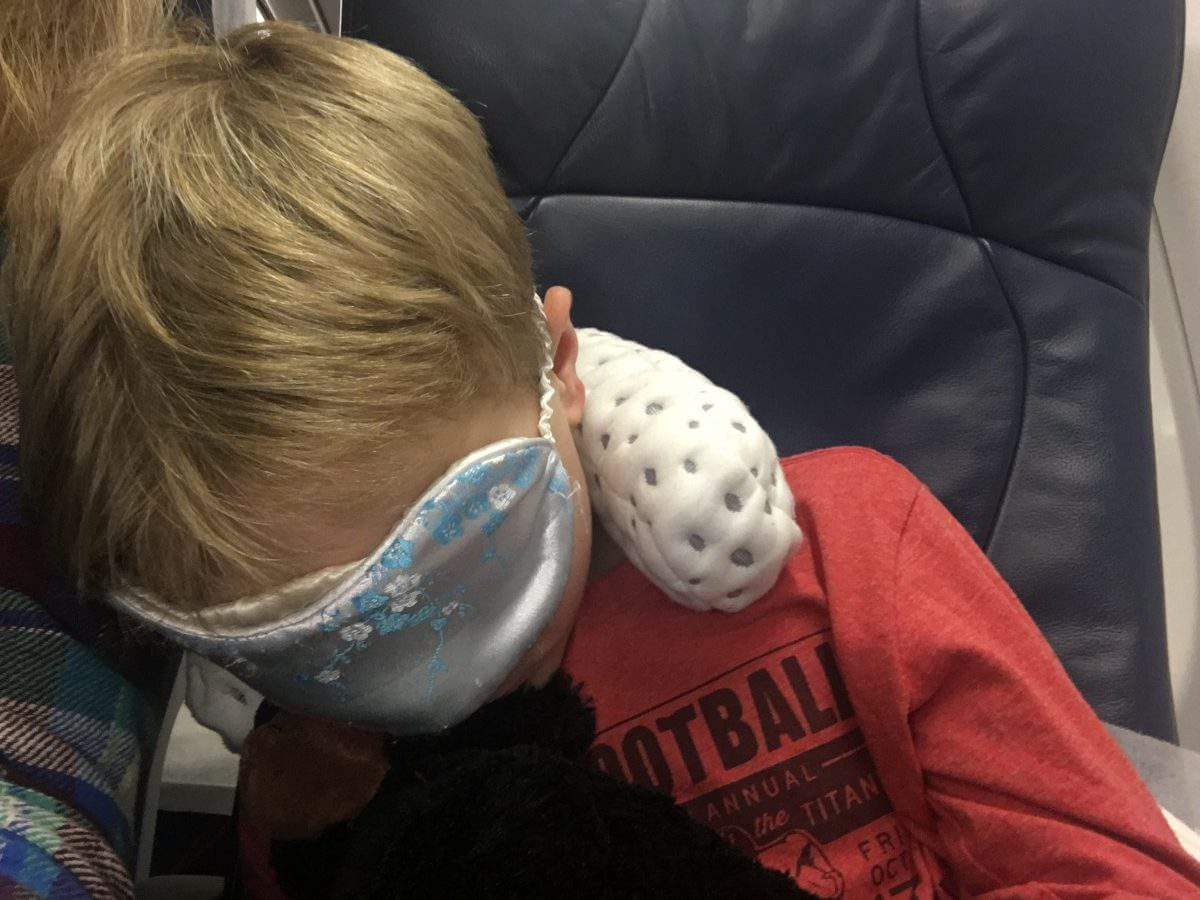 carry-on travel essentials travel pillow eye mask-kids are a trip