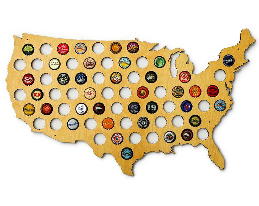 holiday gifts for guys usa beer map-kids are a trip
