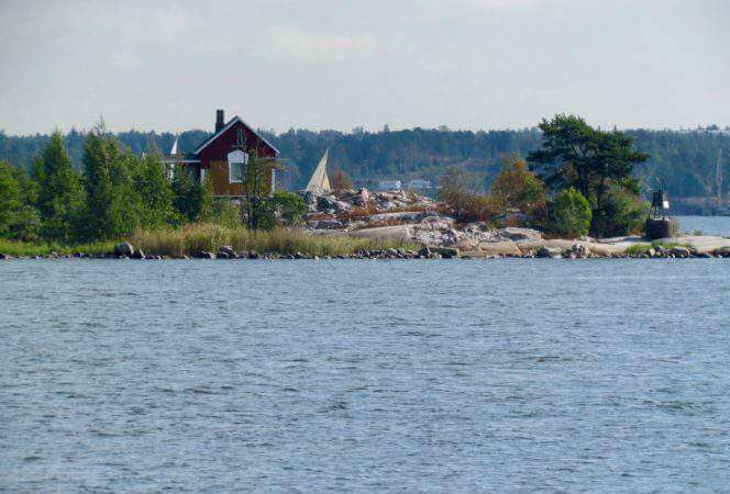 House on island near Helsinki Finland-Kids Are A Trip