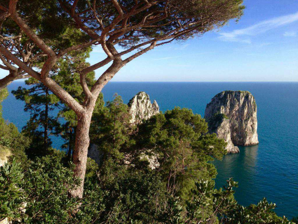 How to Visiti Sorrento, Capri, and Pompeii with Kids View of Capri-Kids Are A Trip
