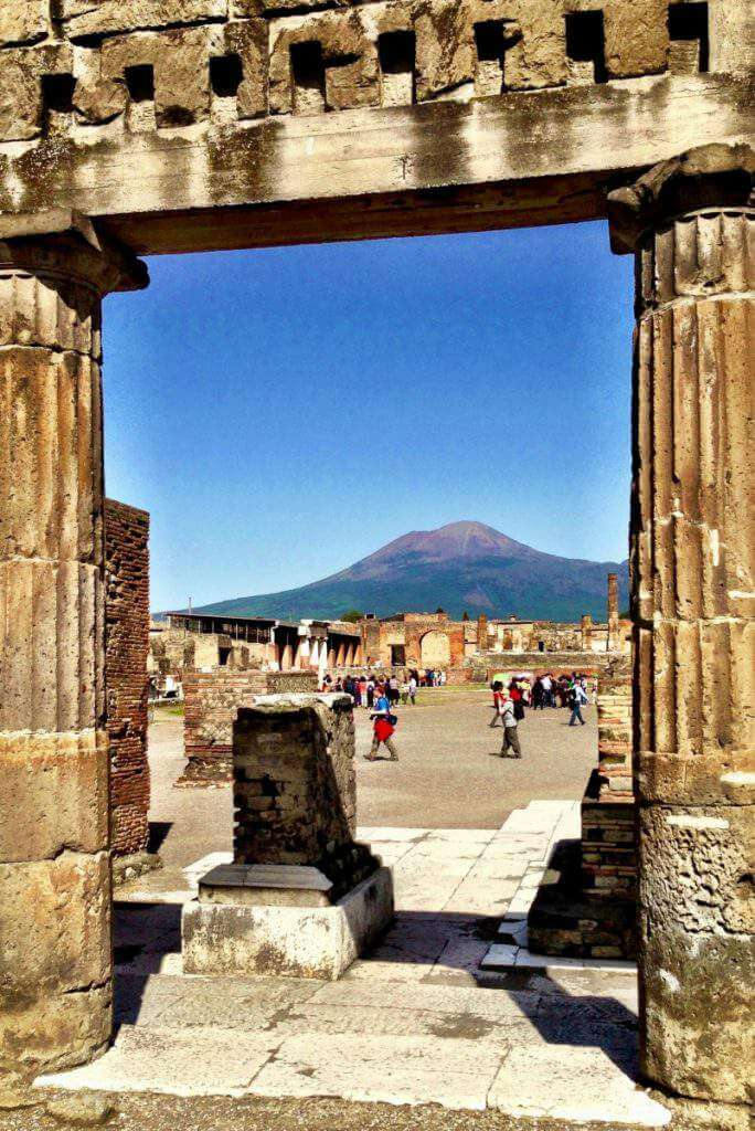 How to Visit Sorrento, Capri, and Pompeii with Kids View of Mount Vesuvius-Kids Are A Trip