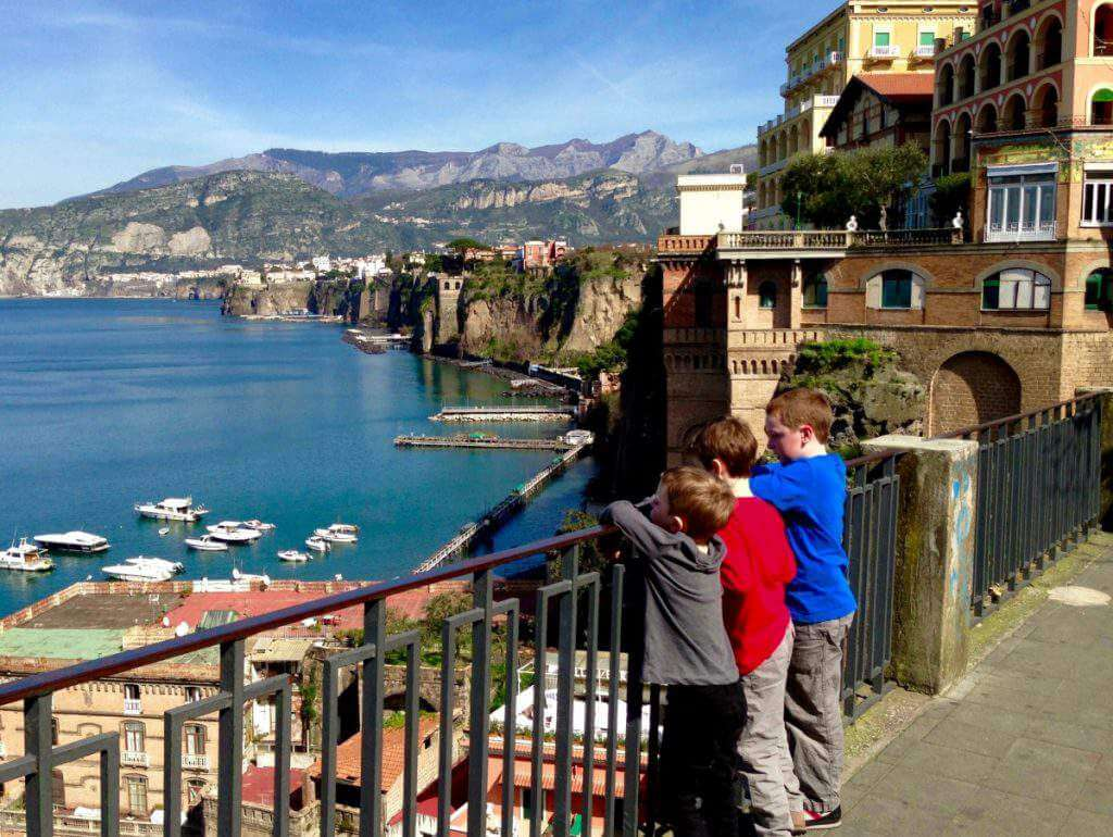 How to Visit Sorrento, Capri, and Pompeii with Kids Sorrento has quite the view-Kids Are A Trip