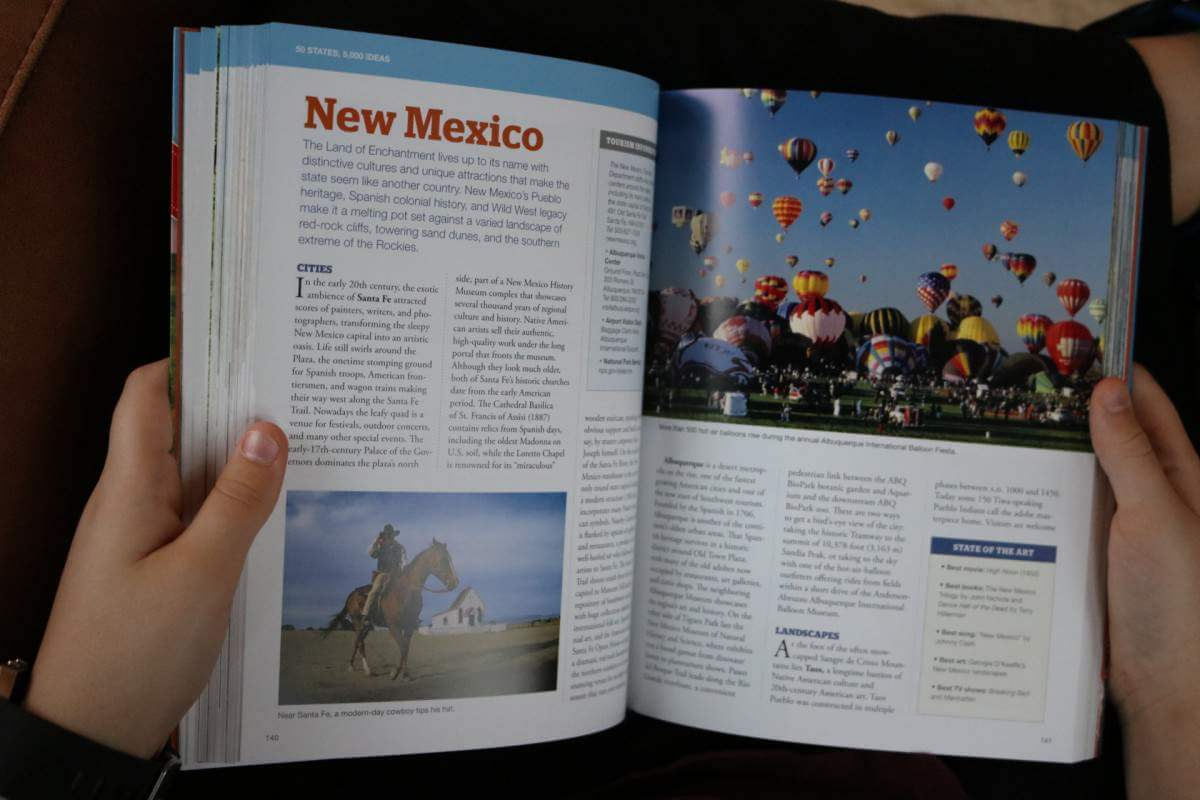 National Geographic's 50 States 5000 Ideas What's Inside - Kids Are A Trip