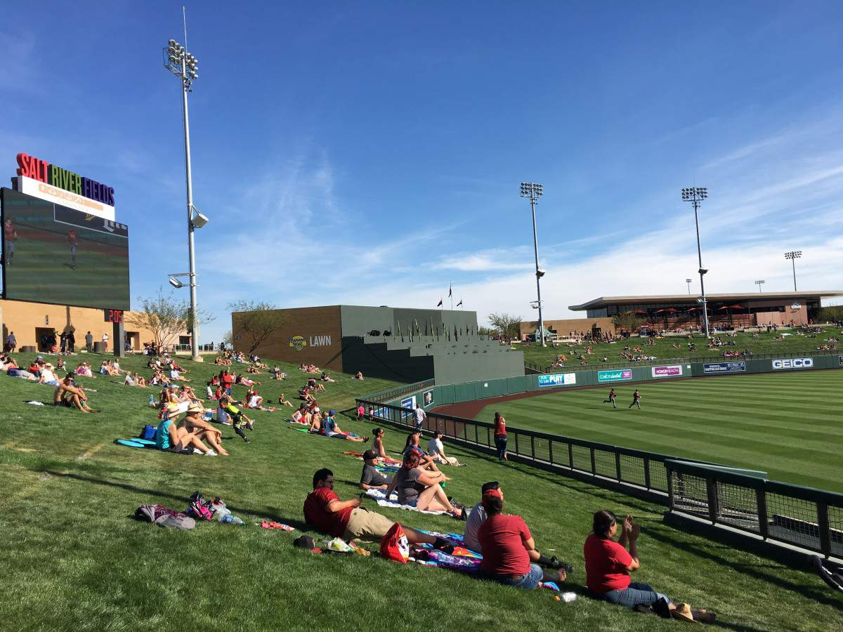 How to Enjoy Spring Training in Phoenix Try Lawn Seats - Kids Are A Trip