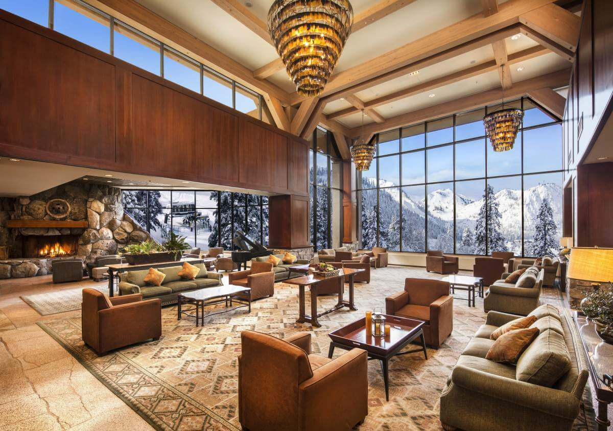 Resort at Squaw Creek is Lake Tahoe's Winter Wonderland and it starts with this lobby.- Kids Are A Trip