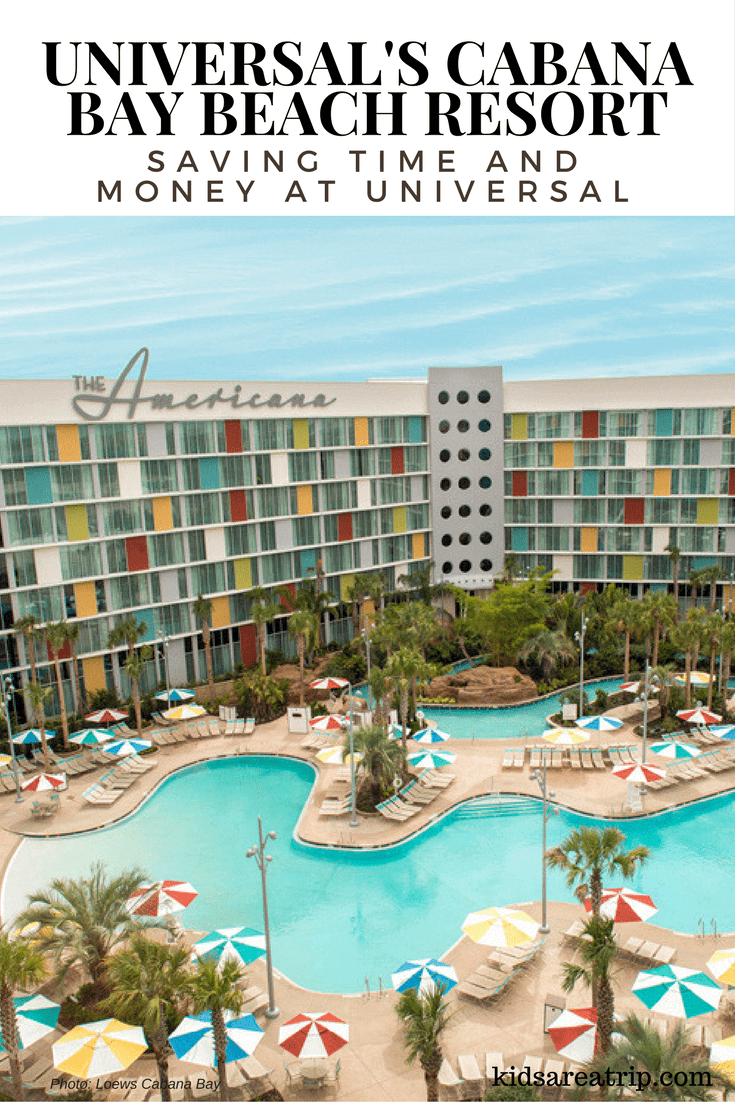 Universal's Cabana Bay Beach Resort offers families convenience and retro fun close to Universal Studios. Families will also enjoy the lazy river and water parks on-site. Come see what else this cool resort has to offer.-Kids Are A Trip