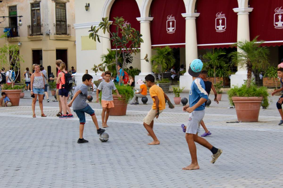 Family Friendly Things to Do with Kids in Havana Playing Soccer-Kids Are A Trip