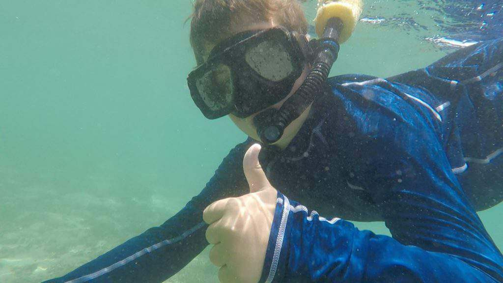 Adventures by Disney Costa Rica Tour Underwater Snorkeling-Kids Are A Trip