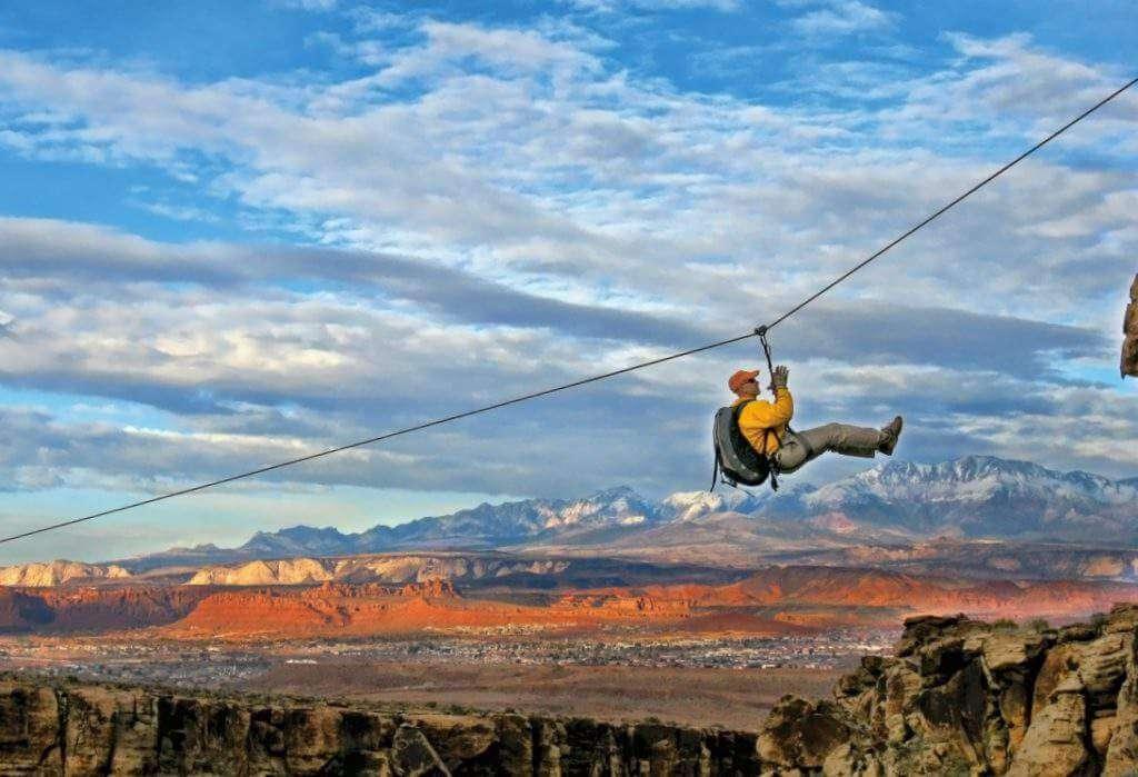 St George Utah with Kids Outdoor_Zipline-Kids Are A Trip