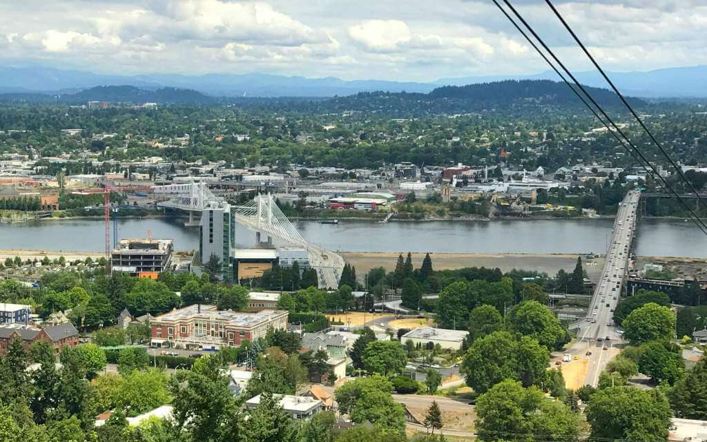 Best Family Vacation Spots in the US Portland Oregon View Aerial Tram-Kids Are A Trip