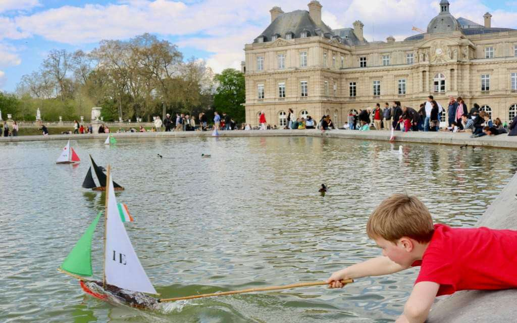 Best Things to Do in Paris with Kids Boats at Luxembourg Gardens-Kids Are A Trip