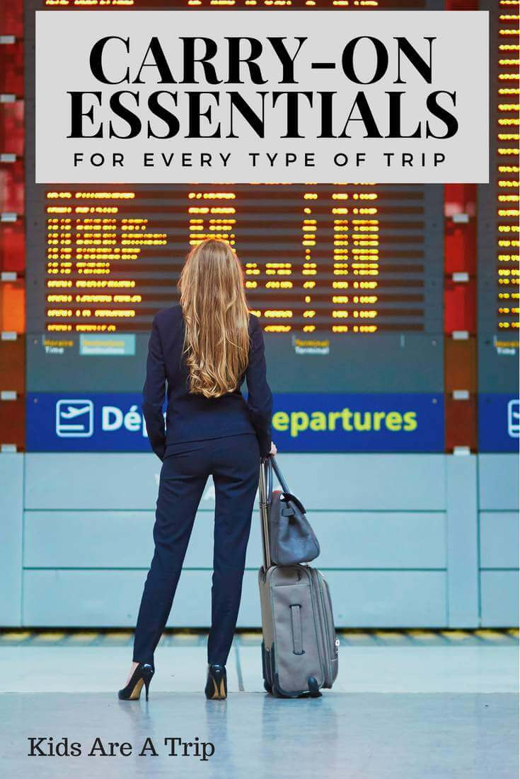 When you travel it is important to have everything you need within easy reach. This post breaks down the essentials you need in your carry-on whether you are traveling alone, overseas, or with kids.-Kids Are A Trip