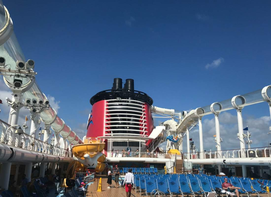 Disney Cruise with Teens AquaDuck Waterslide-Kids Are A Trip