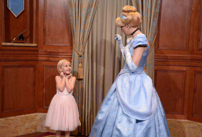 Visiting with Cinderella in Magic Kingdom