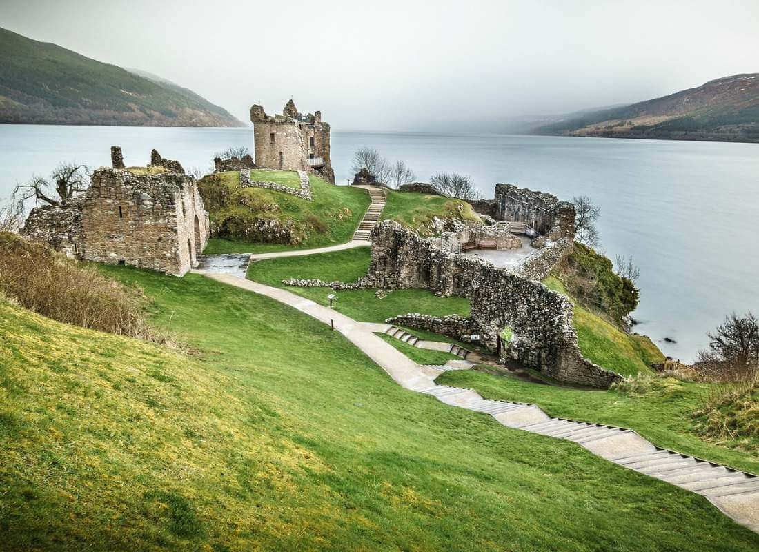 Urquhart Castles in Scotland-Kids Are A Trip