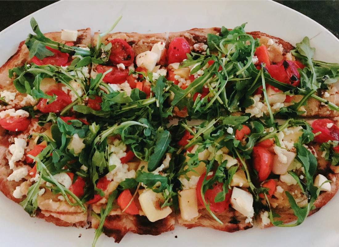 Vegetable Flat Bread at The Chattanoogan Hotel-Kids Are A Trip