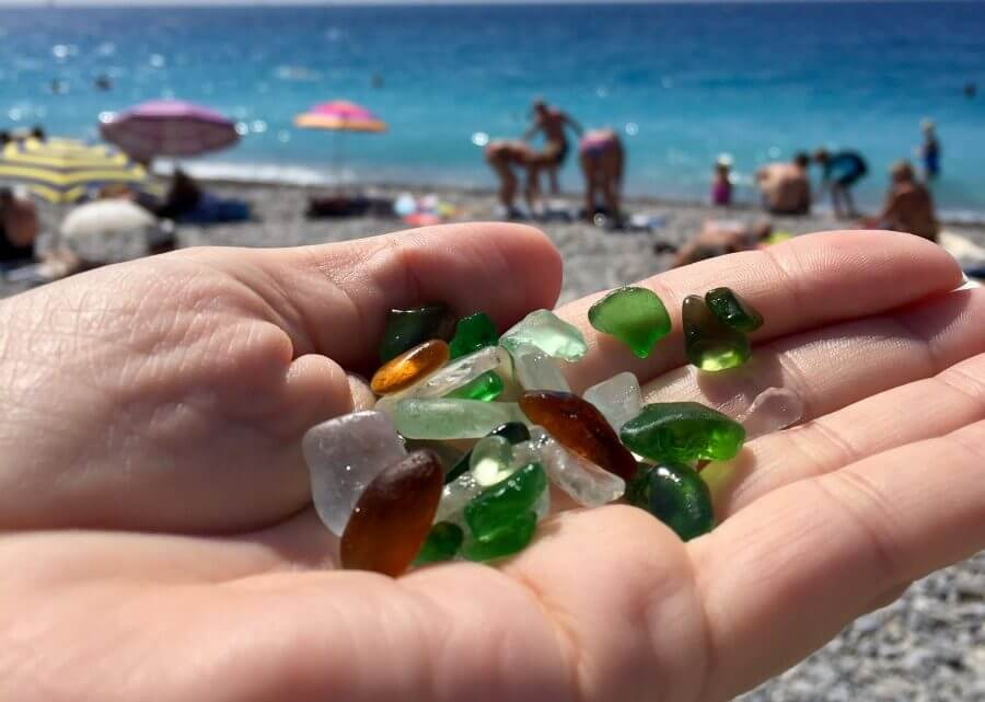 Sea Glass at Ponchettes Beach by the Mediterranean Sea