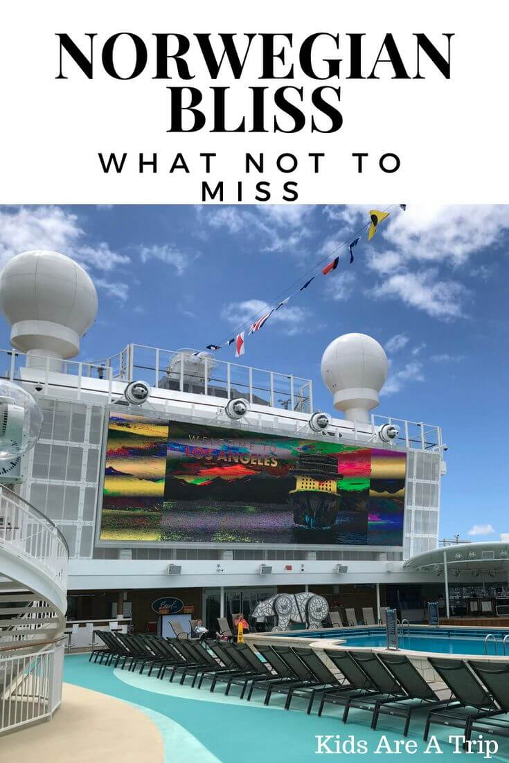 If you're getting ready for a Norwegian Bliss Cruise or thinking of taking one, we have you covered. Here's what you can expect and what not to miss on the Norwegian Bliss. - Kids Are A Trip