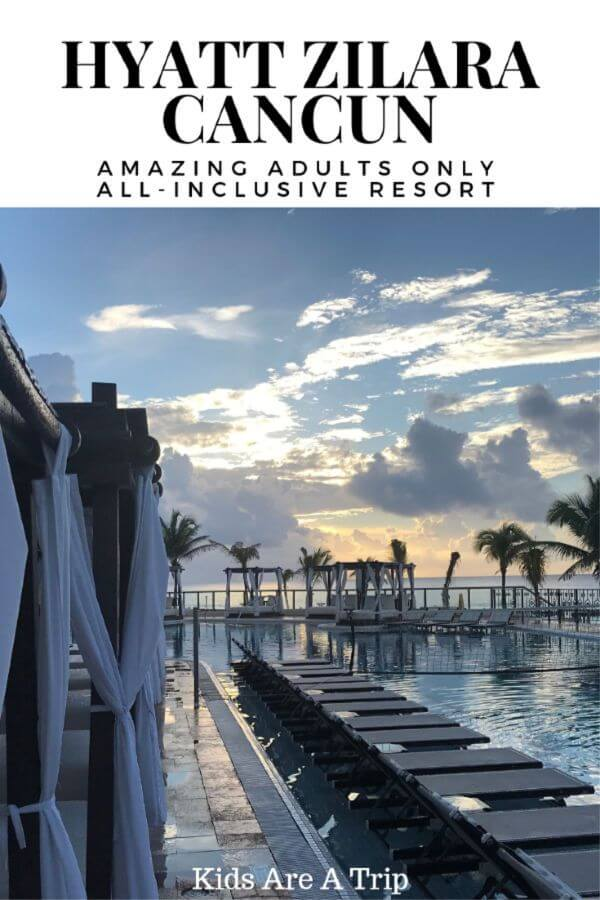 Adults looking for an all-inclusive property that checks all the boxes, need look no further than Hyatt Zilara Cancun. This Mexican resort has everything you need, from entertainment to food to relaxation. Come see for yourself! - Kids Are A Trip
