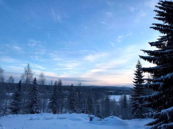 View-from-porch-Puukarin-Pysäkki-Guesthouse-Nordic-Lapland-Kids-Are-A-Trip
