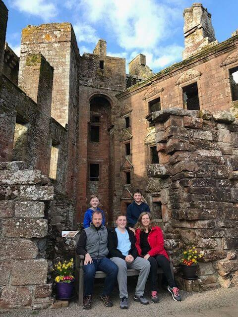 Maxwell-Clan-Caerlaverock-Castle-in-Scotland-Kids-Are-A-Trip