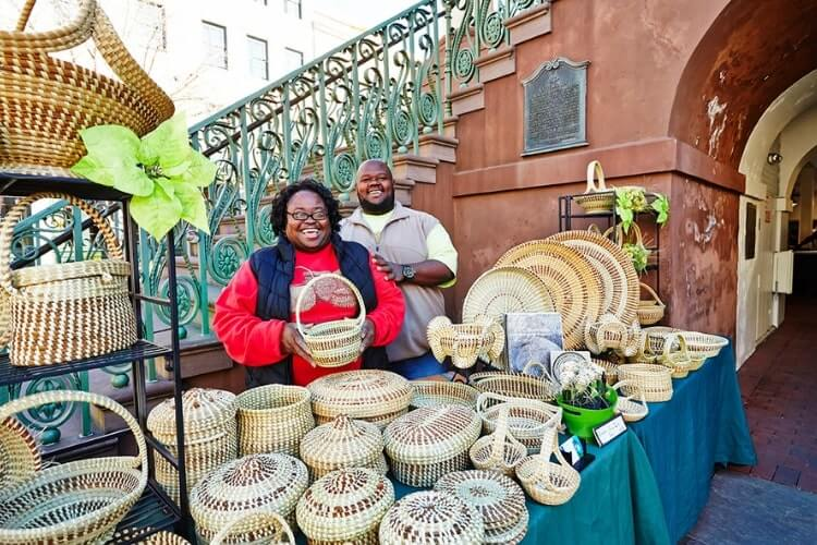 Sweetgrass baskets make an excellent souvenir from a girls getaway to Charleston, SC. - Kids Are A Trip