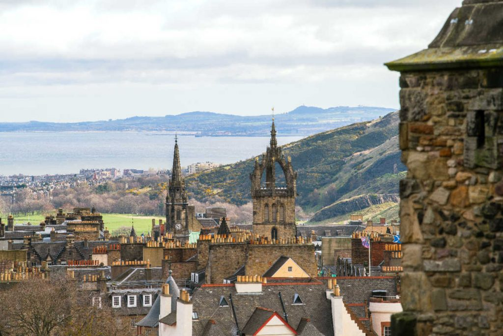 Royal Mile Edinburgh Scotland view of Firth of Forth-Kids Are A Trip