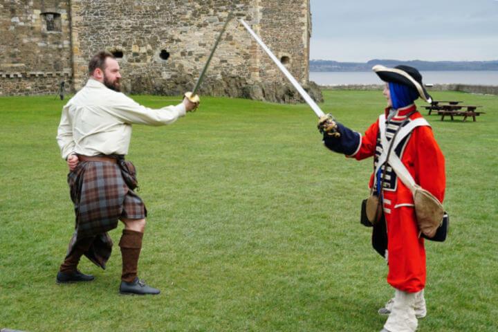 Sword Fighting Highlander Tours Scotland-Kids Are A Trip