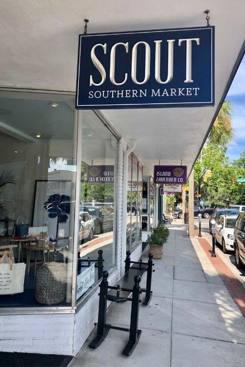 Shopping on Bay Street in Beaufort is a top tip with so many great shops like Scout with its sweet tea bar.