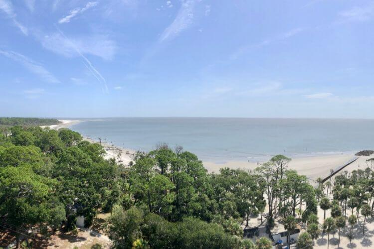 Views from the Hunting Island Lighthouse make the 167 step climb worthwhile.