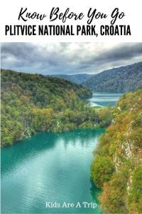 If you are planning a trip to Plitvice National Park in Croatia, you will want to read this post. It tells you how to get there, what to wear, and how to avoid the crowds. - Kids Are A Trip #Croatia #Plitvice #NationalParks #waterfalls #familytravel