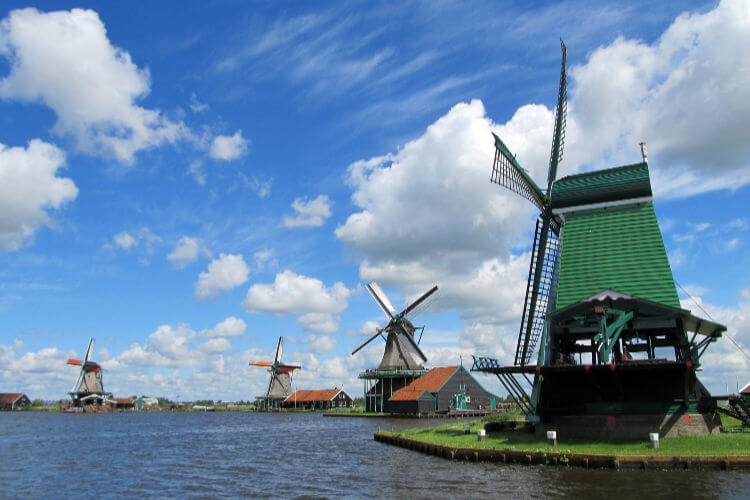 Zaanse Schans windmills Netherlands-Kids Are A Trip
