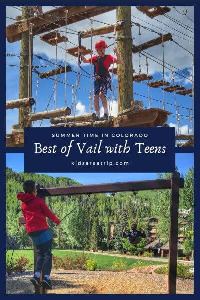 Vail in summer is hard to resist. With endless outdoor activities, and an idyllic setting, it's a Colorado destination teens will love and parents will too. - Kids Are A Trip #Vail #Colorado #summervacation #familytravel