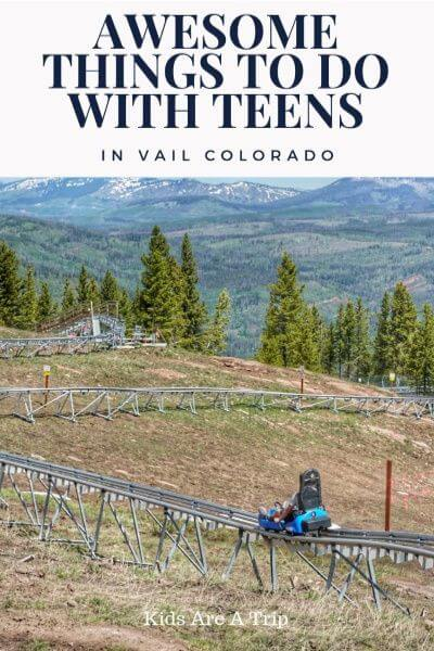 Vail in summer is hard to resist. With endless outdoor activities, and an idyllic setting, it's one place teens will love and parents will too. - Kids Are A Trip #Vail #Colorado #summervacation #familytravel