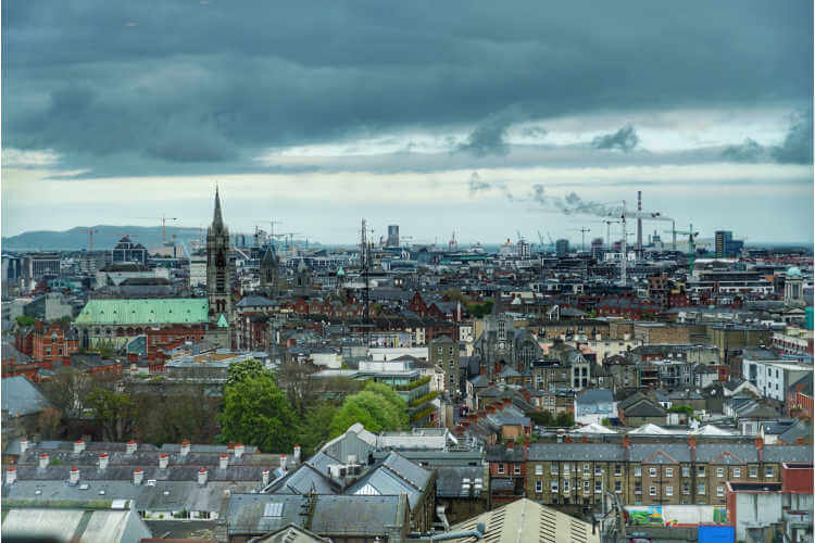 View of Dublin from Guinness Storehouse-Kids Are A Trip