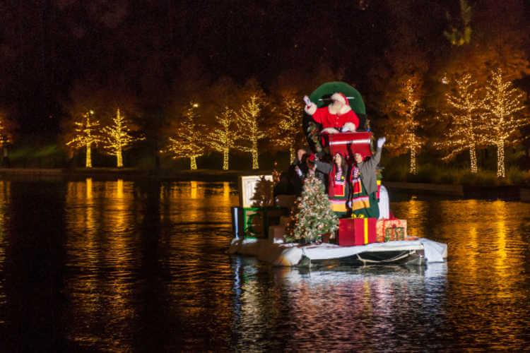 Santa on The Waterway