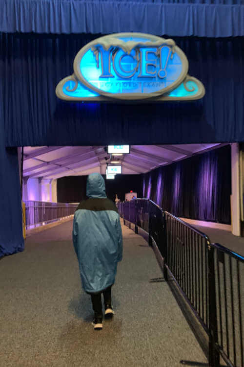 blue parka at Gaylord Texas ICE