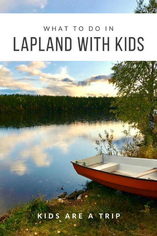 Lapland with kids boat on lake-Kids Are A Trip