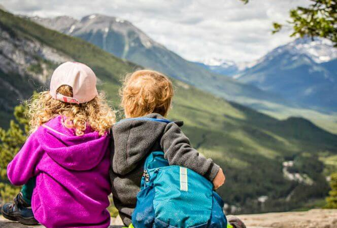 Two children in Banff
