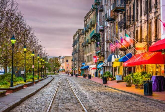 River Street Savannah GA-Kids Are A Trip