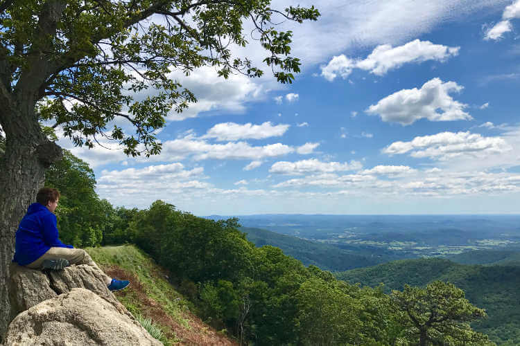 Shenandoah National Park overlook-Kids Are A Trip